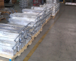 Stand Off Flat Bar Aluminum Pier Anodes Houston Anodes